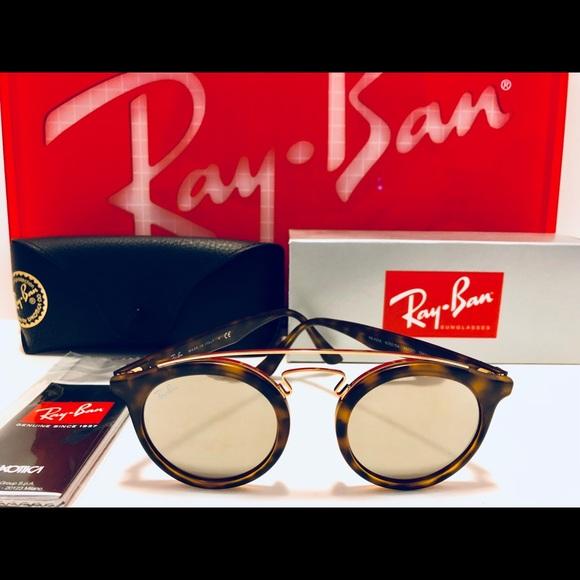 2ff68dad126 Ray-Ban Gatsby I Matte Havana Brown Mirror 46mm